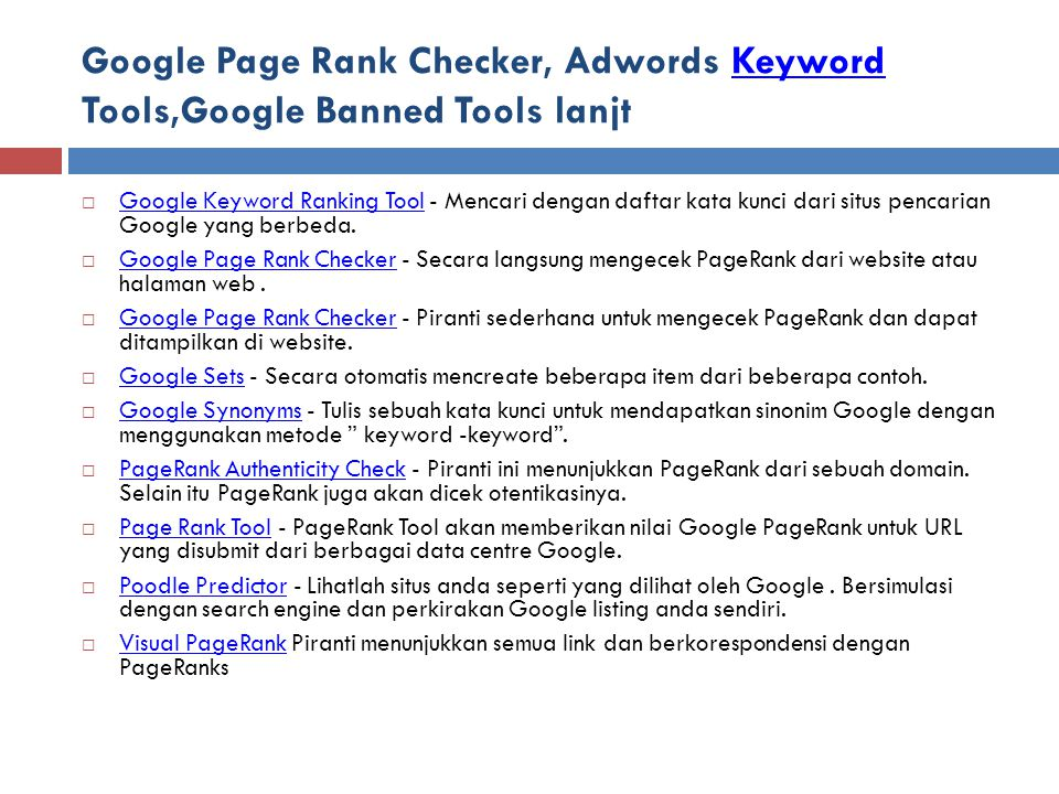 Google Page Rank Checker, Adwords Keyword Tools,Google Banned Tools lanjt