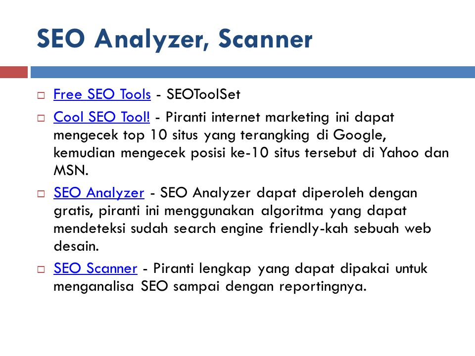 SEO Analyzer, Scanner Free SEO Tools - SEOToolSet