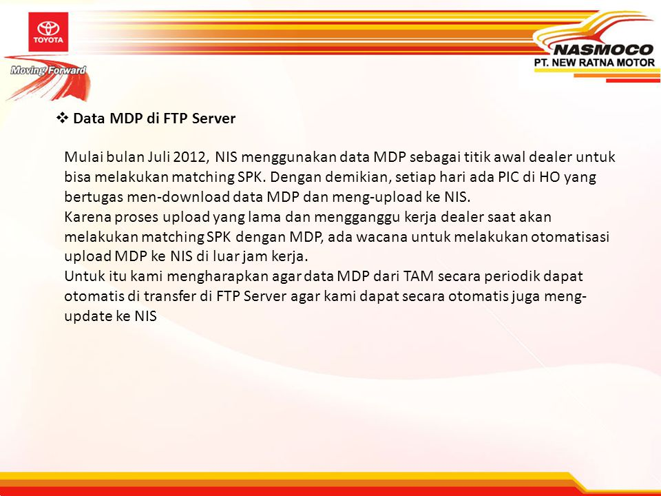 Data MDP di FTP Server