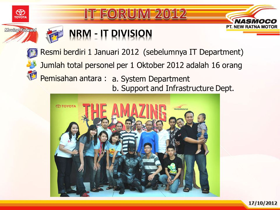IT FORUM 2012 NRM - IT DIVISION