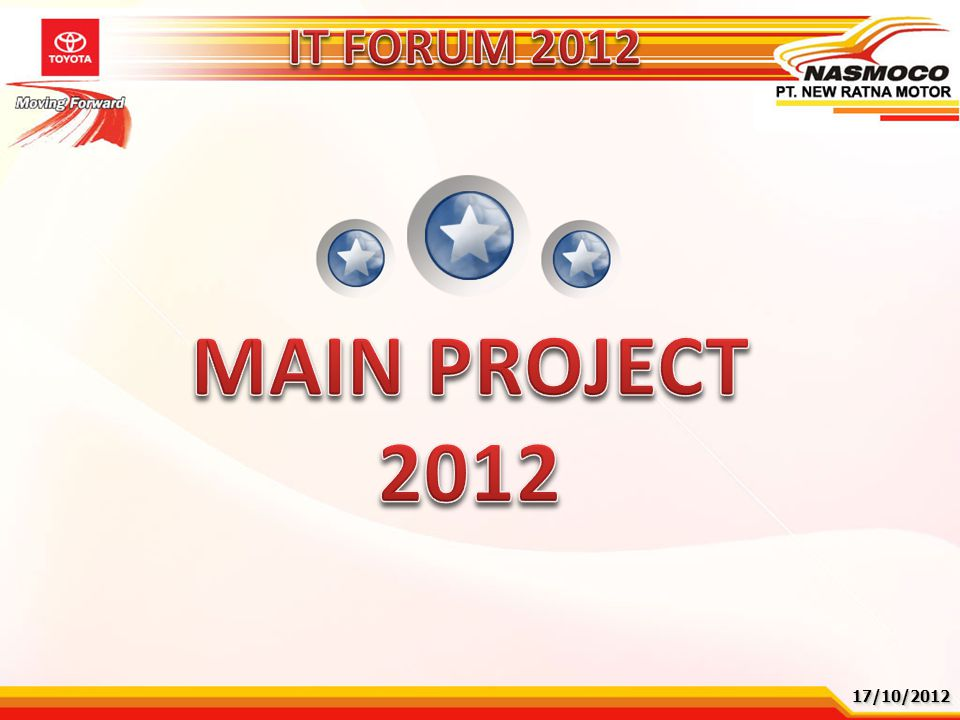 IT FORUM 2012 MAIN PROJECT 2012 17/10/2012