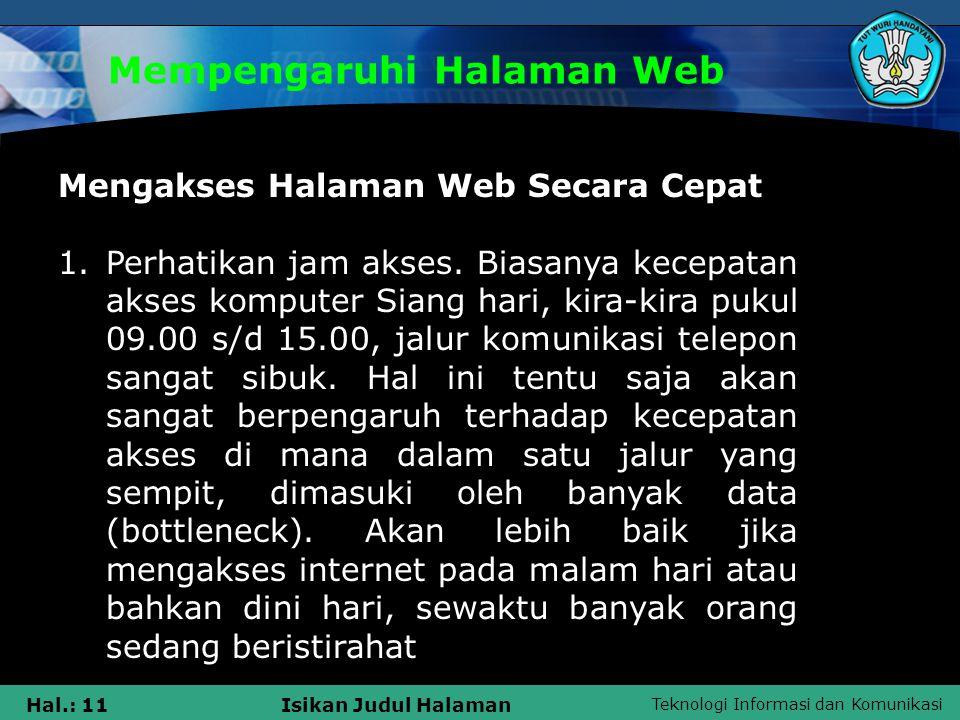 Mempengaruhi Halaman Web