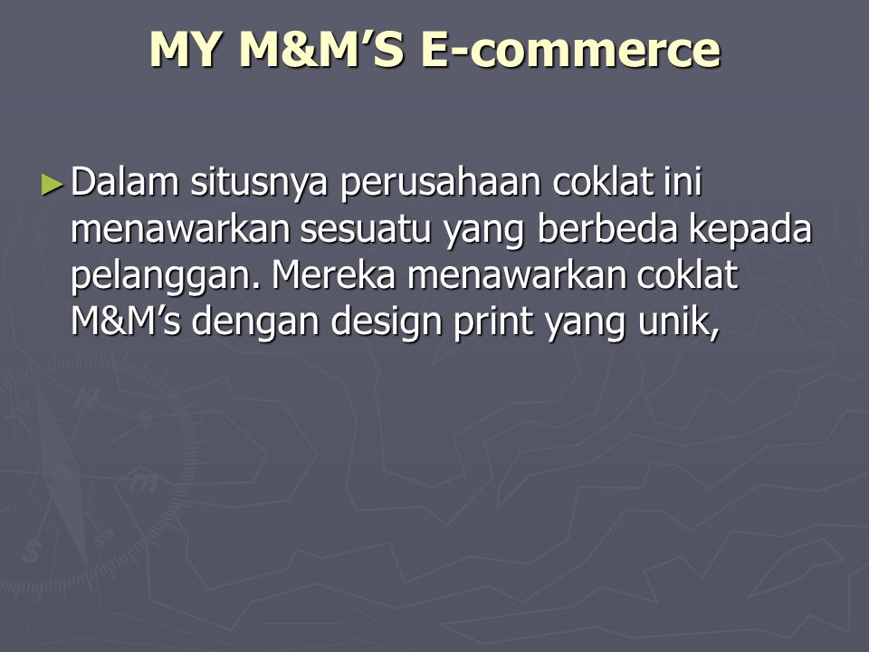 MY M&M'S E-commerce