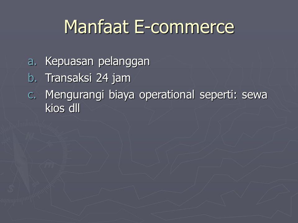 Manfaat E-commerce Kepuasan pelanggan Transaksi 24 jam