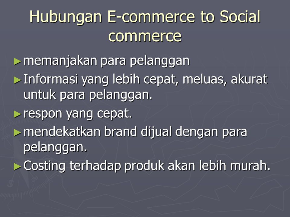 Hubungan E-commerce to Social commerce