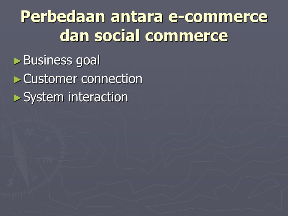 Perbedaan antara e-commerce dan social commerce