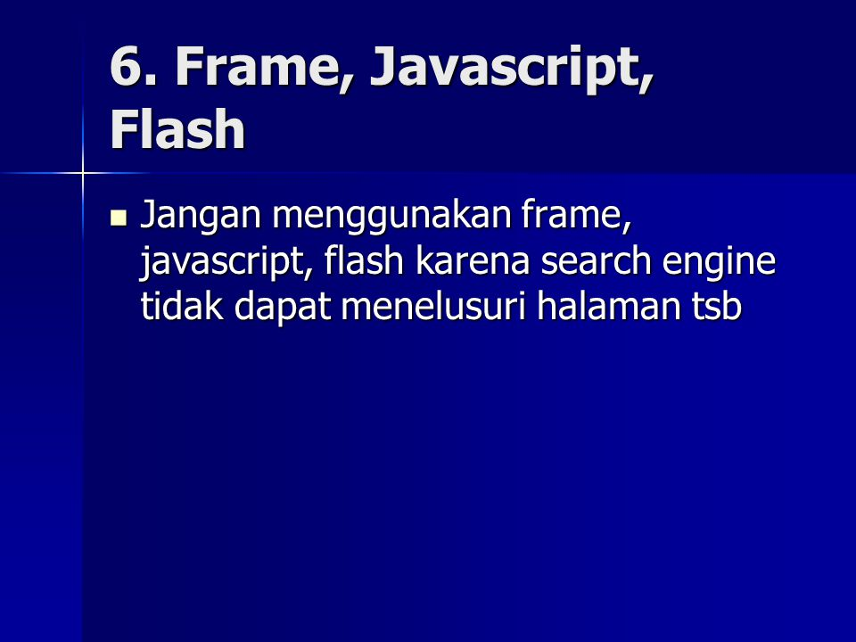 6. Frame, Javascript, Flash