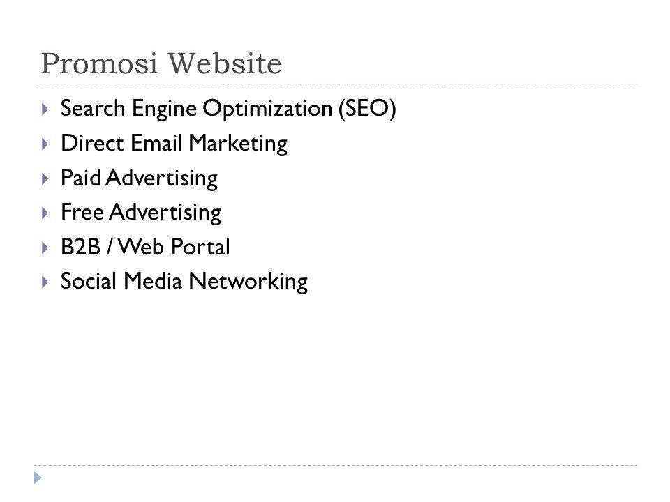 Promosi Website Search Engine Optimization (SEO)