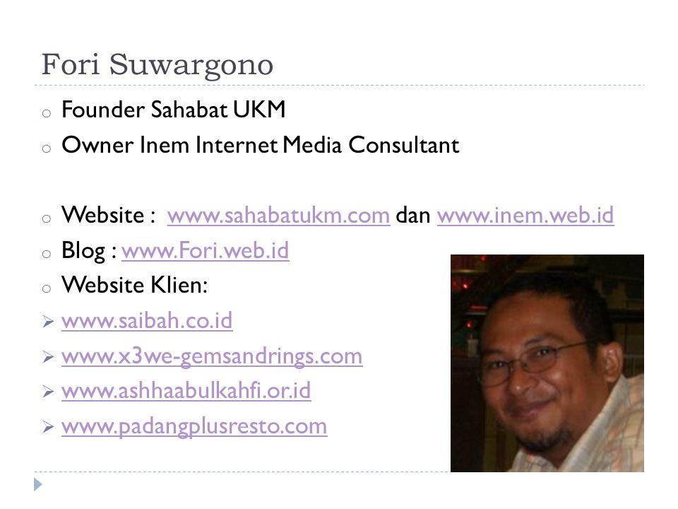 Fori Suwargono Founder Sahabat UKM