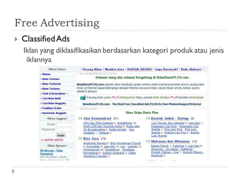 Free Advertising Classified Ads