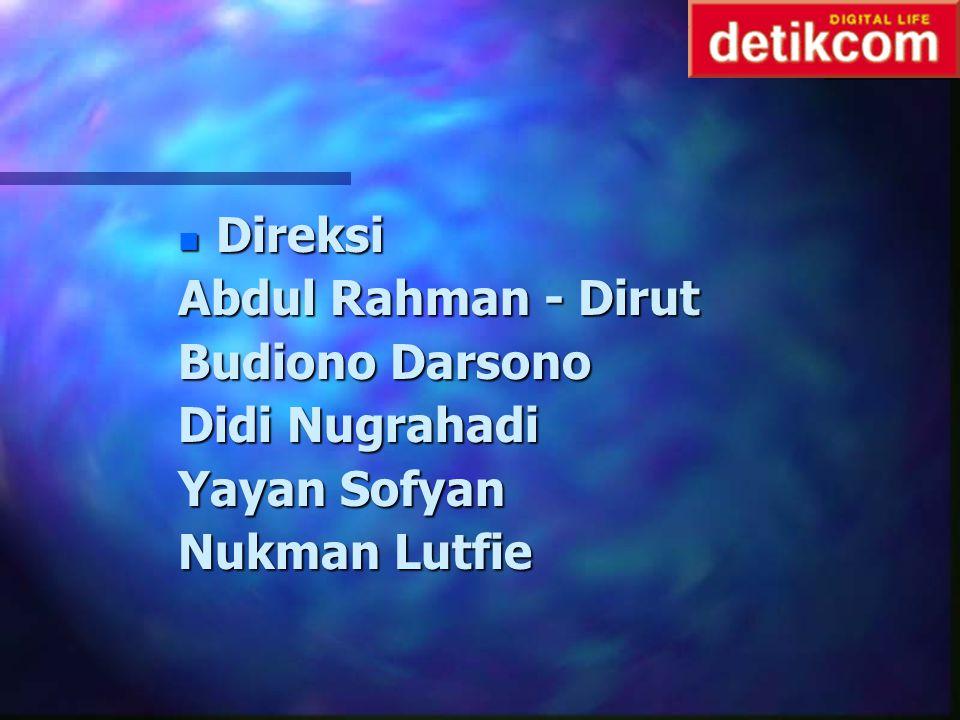 Direksi Abdul Rahman - Dirut Budiono Darsono Didi Nugrahadi Yayan Sofyan Nukman Lutfie