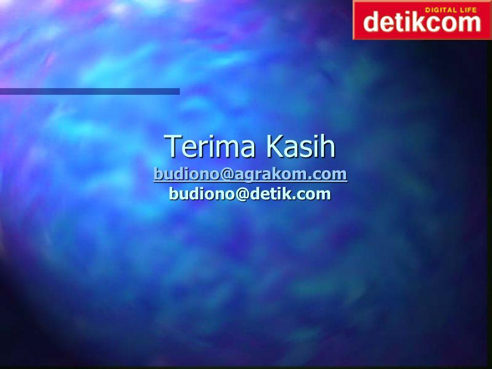 Terima Kasih budiono@agrakom.com budiono@detik.com