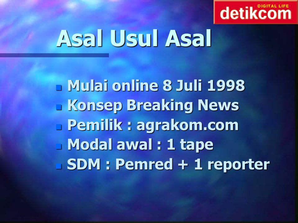 Asal Usul Asal Mulai online 8 Juli 1998 Konsep Breaking News