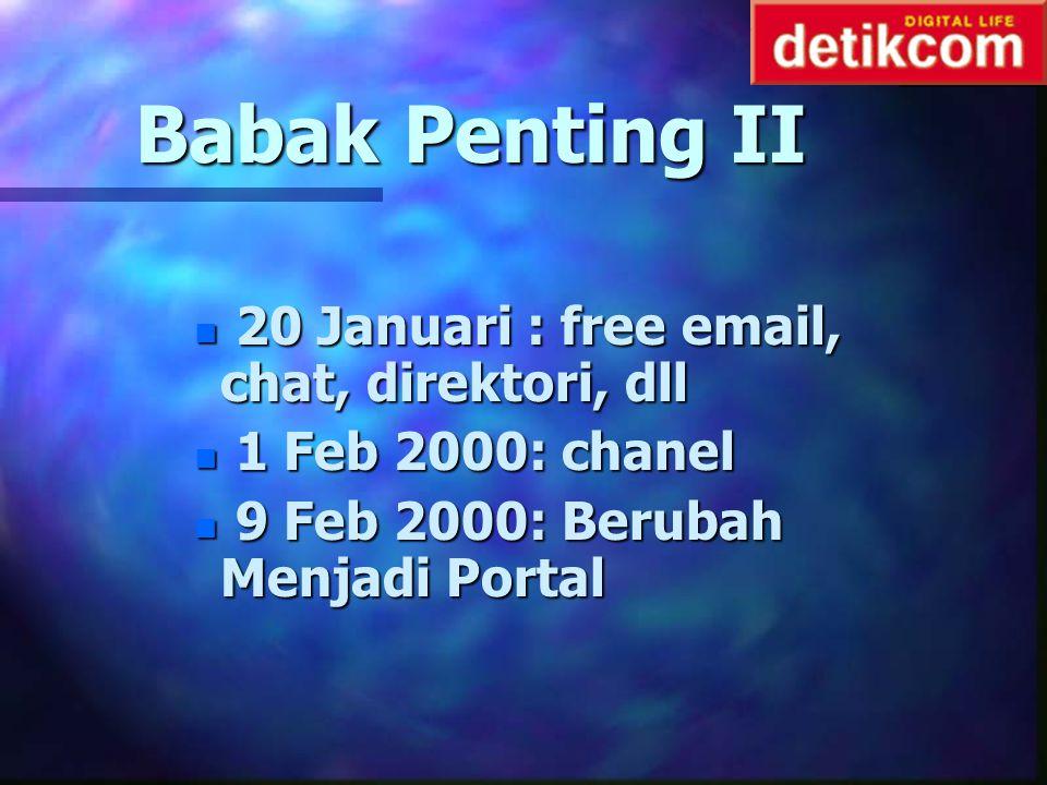 Babak Penting II 20 Januari : free email, chat, direktori, dll