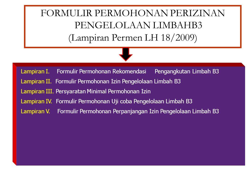 FORMULIR PERMOHONAN PERIZINAN PENGELOLAAN LIMBAHB3