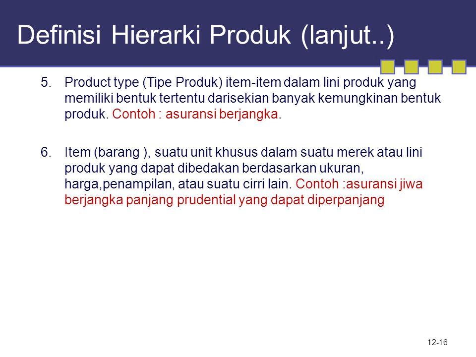 Definisi Hierarki Produk (lanjut..)
