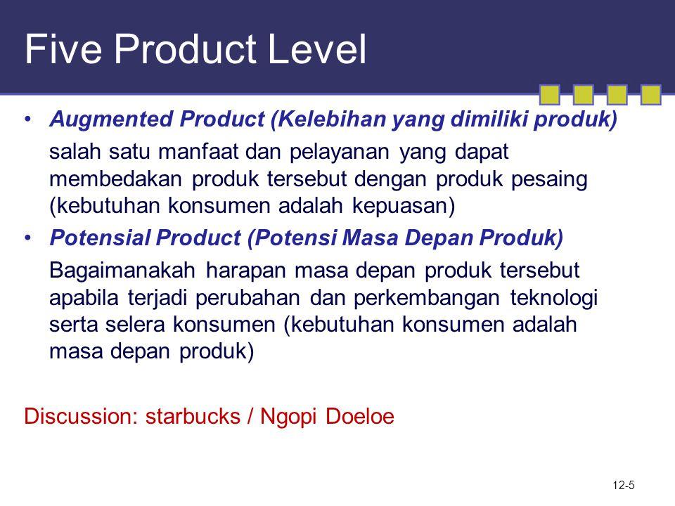 Five Product Level Augmented Product (Kelebihan yang dimiliki produk)
