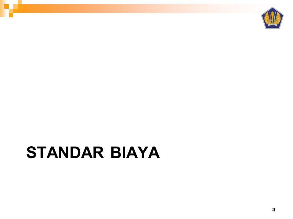 STANDAR BIAYA