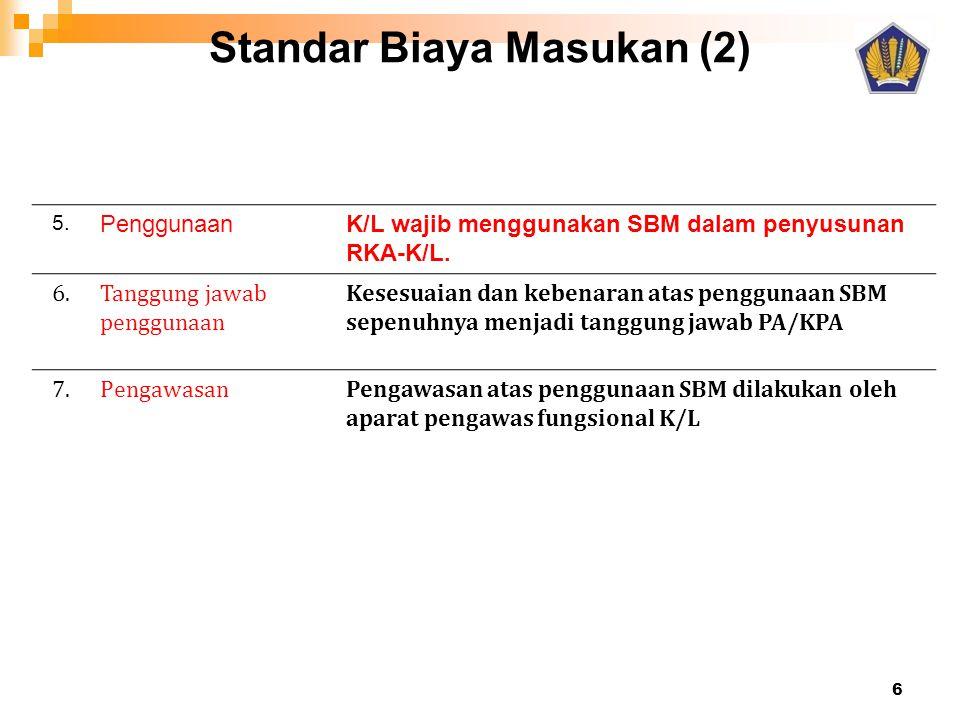 Standar Biaya Masukan (2)