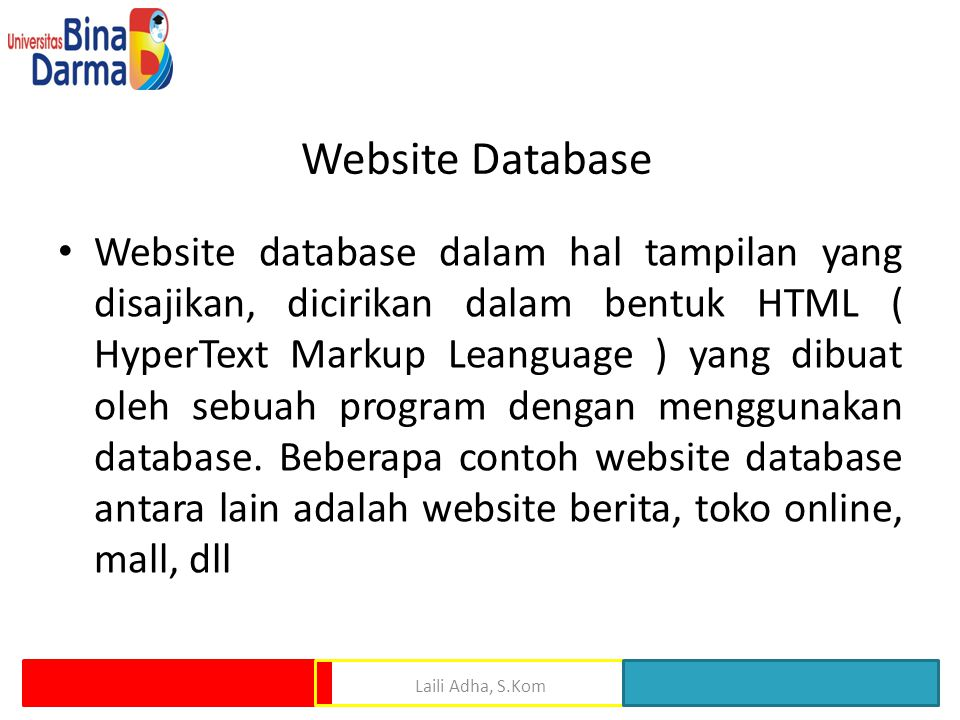 Website Database