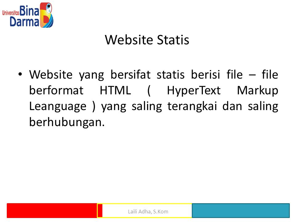 Website Statis
