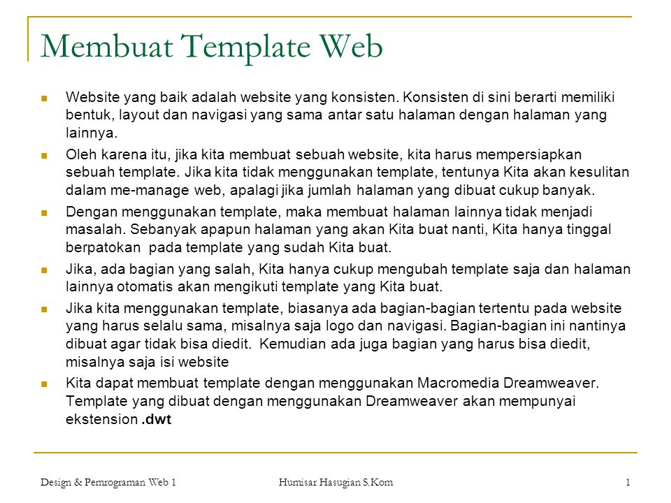 Membuat Template Web