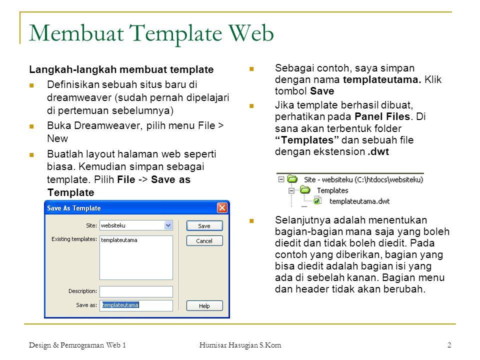 Membuat Template Web Langkah-langkah membuat template