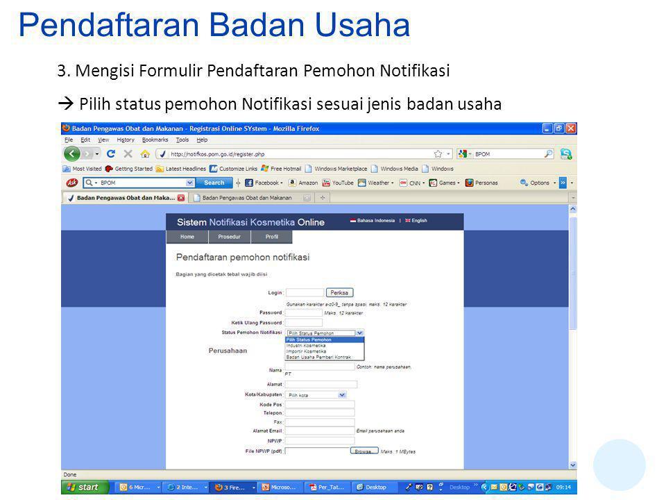 Pendaftaran Badan Usaha
