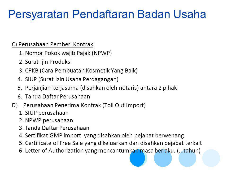 Persyaratan Pendaftaran Badan Usaha