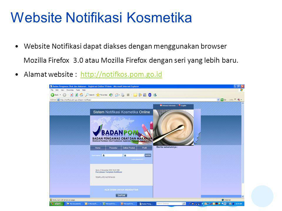 Website Notifikasi Kosmetika