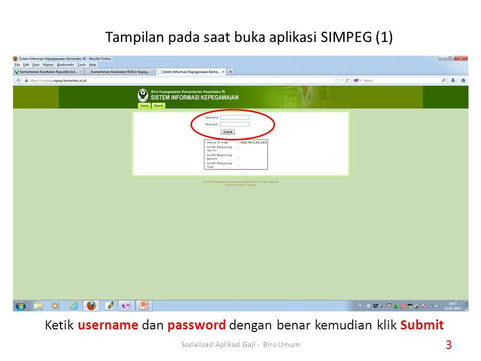 Ketik username dan password dengan benar kemudian klik Submit