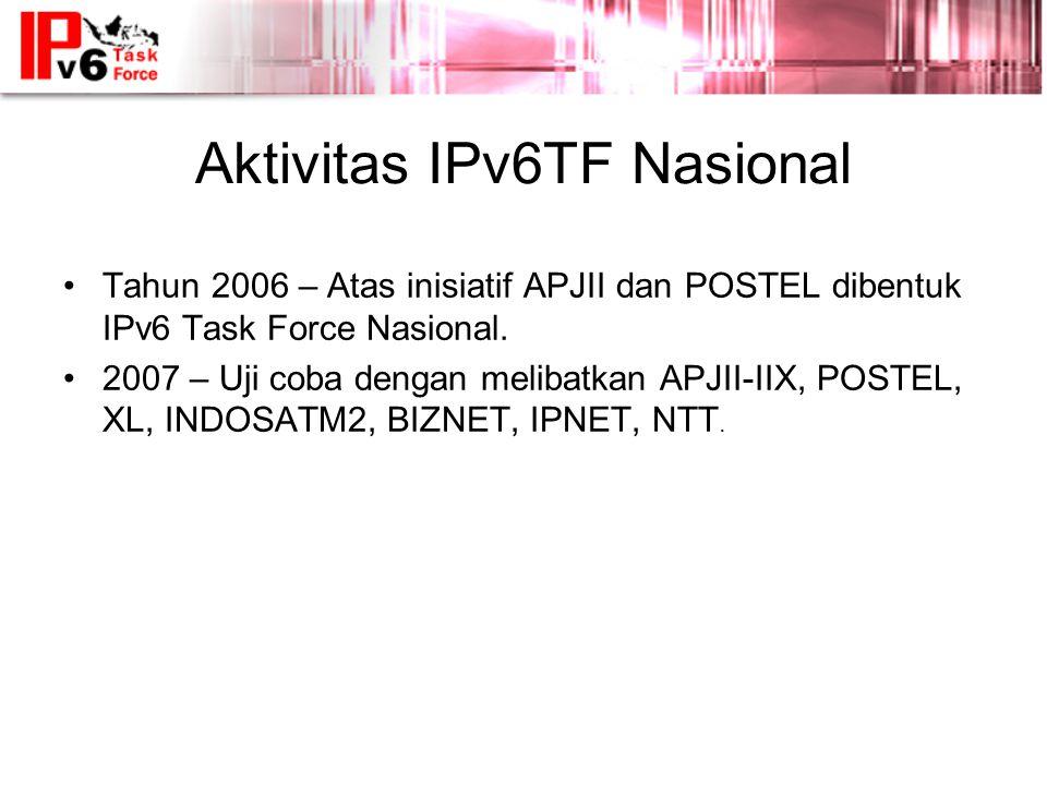 Aktivitas IPv6TF Nasional