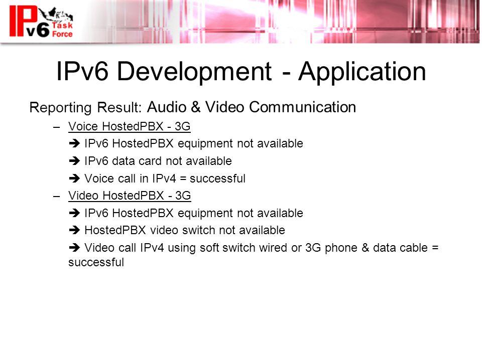 IPv6 Development - Application