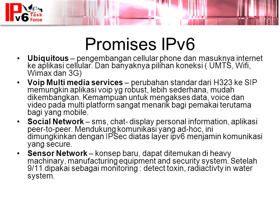 Promises IPv6