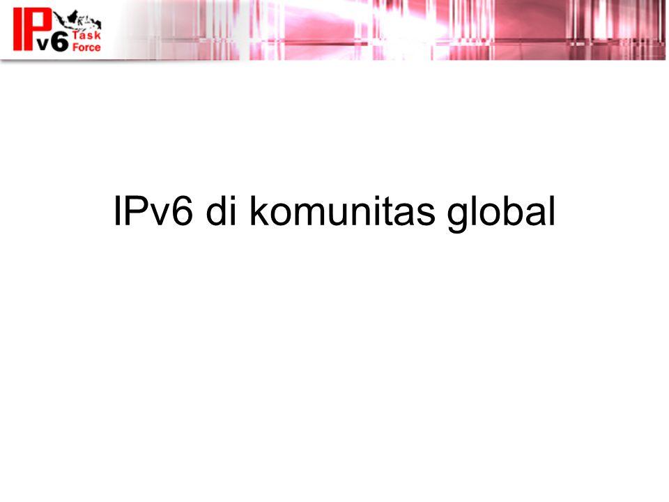 IPv6 di komunitas global