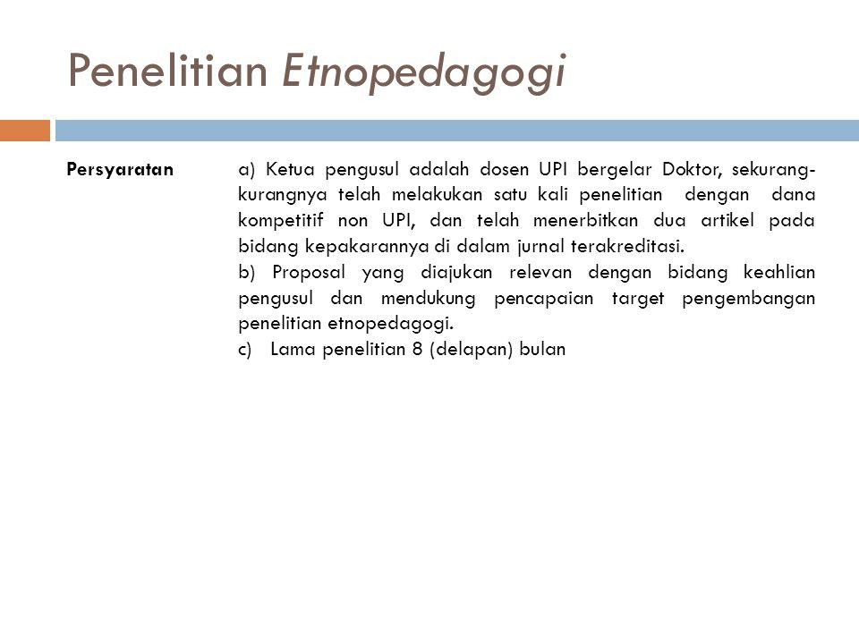 Penelitian Etnopedagogi