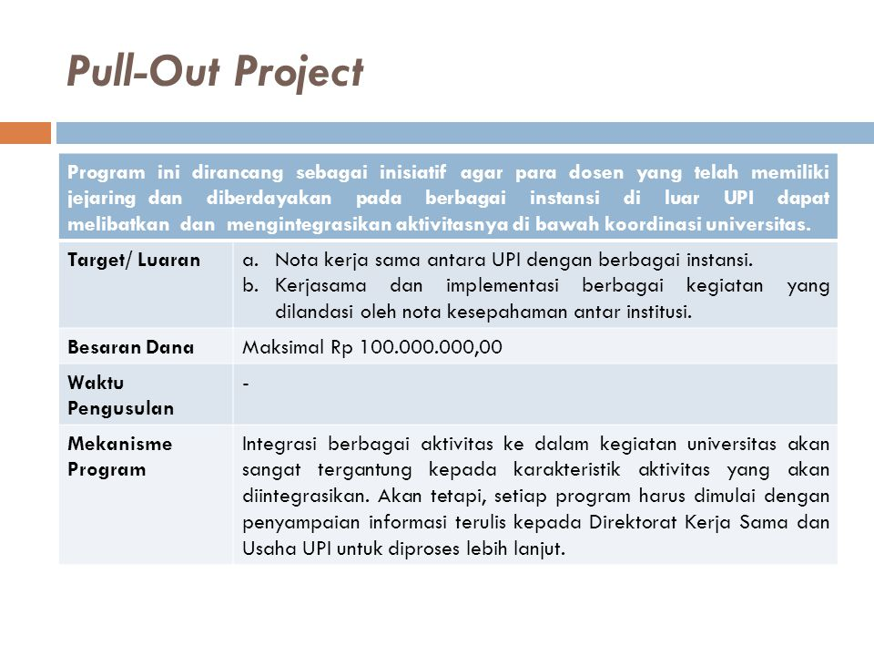 Pull-Out Project
