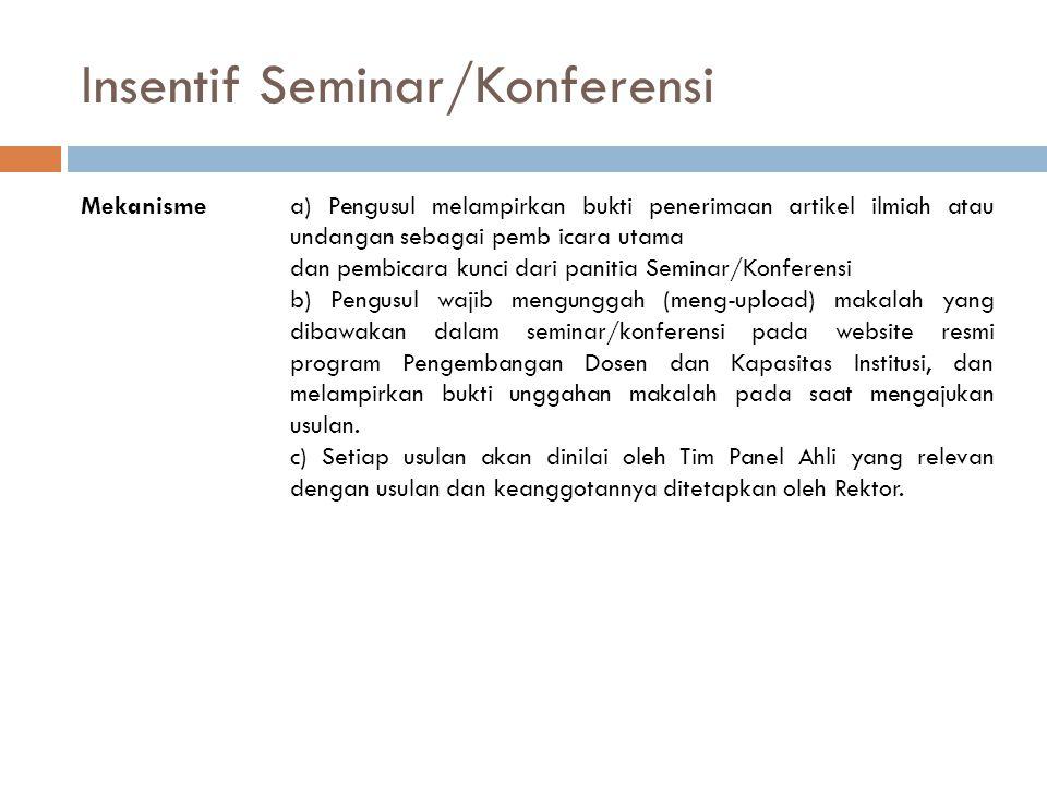 Insentif Seminar/Konferensi