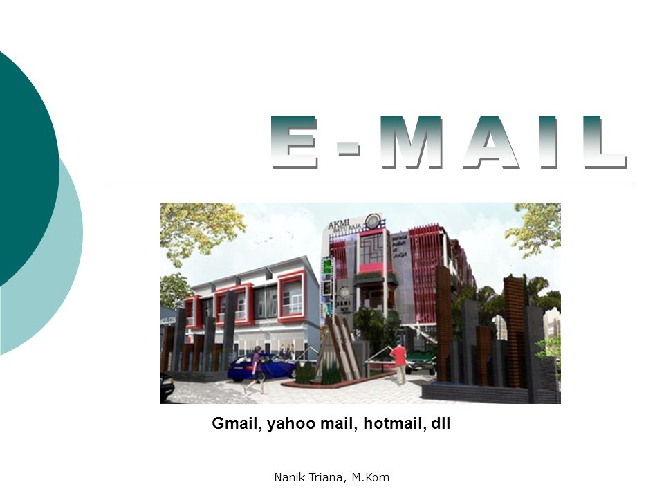 E-MAIL Gmail, yahoo mail, hotmail, dll Nanik Triana, M.Kom