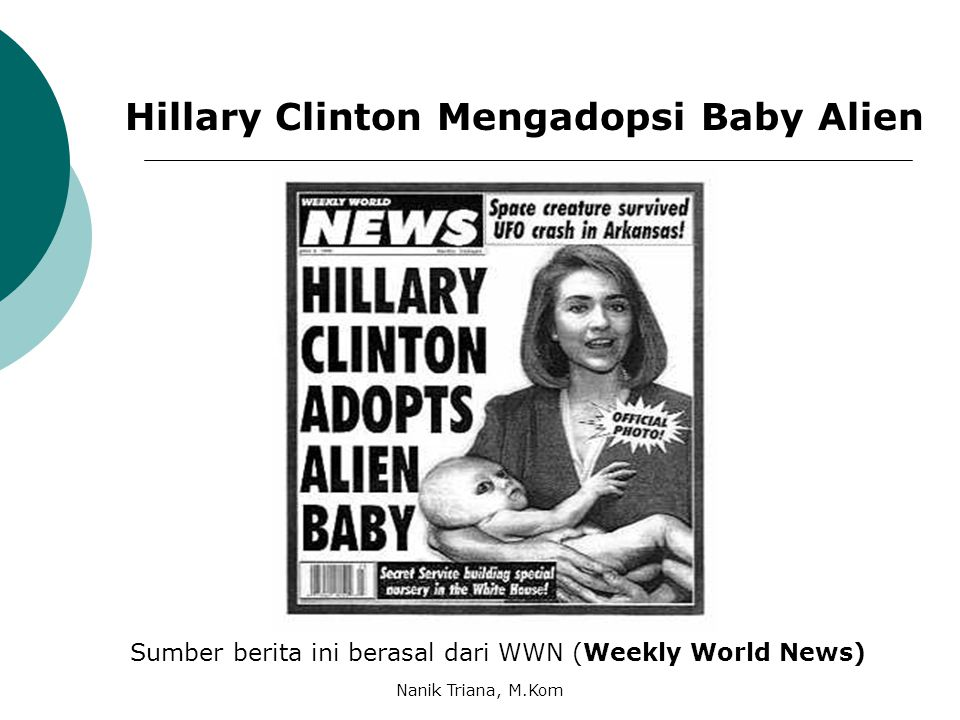 Hillary Clinton Mengadopsi Baby Alien