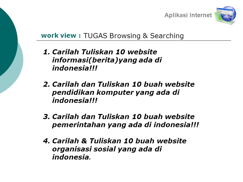 TUGAS Browsing & Searching