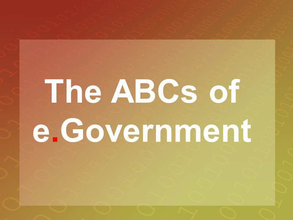 The ABCs of e.Government