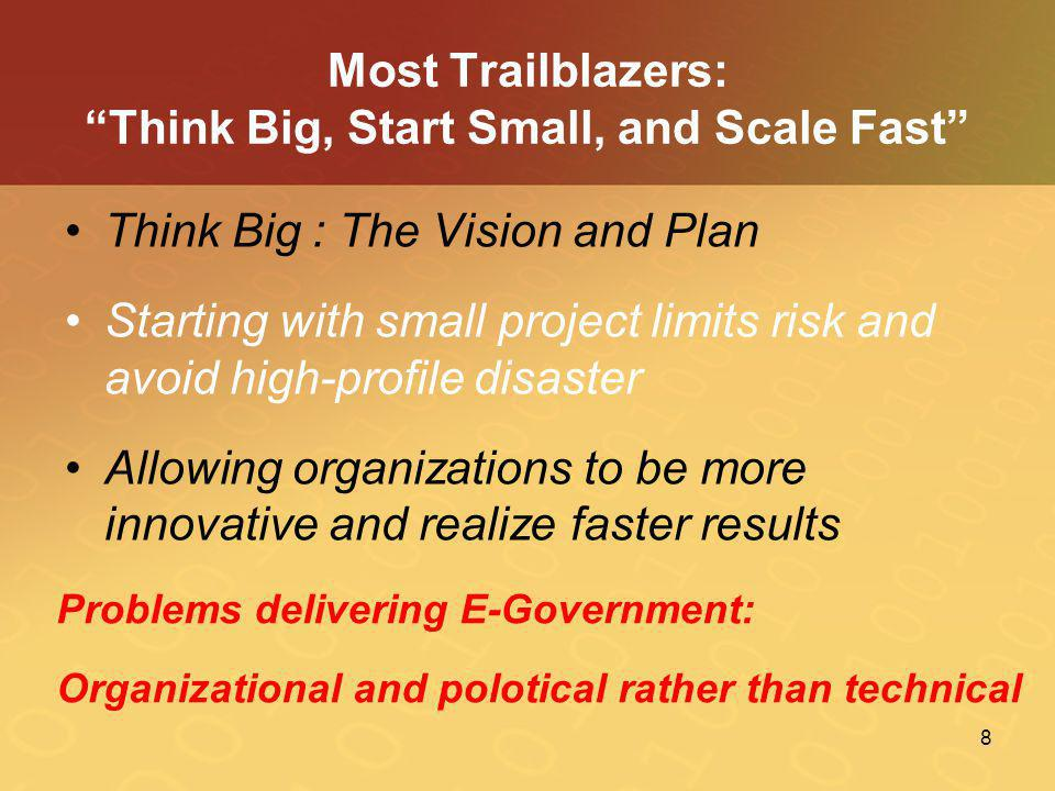 Most Trailblazers: Think Big, Start Small, and Scale Fast