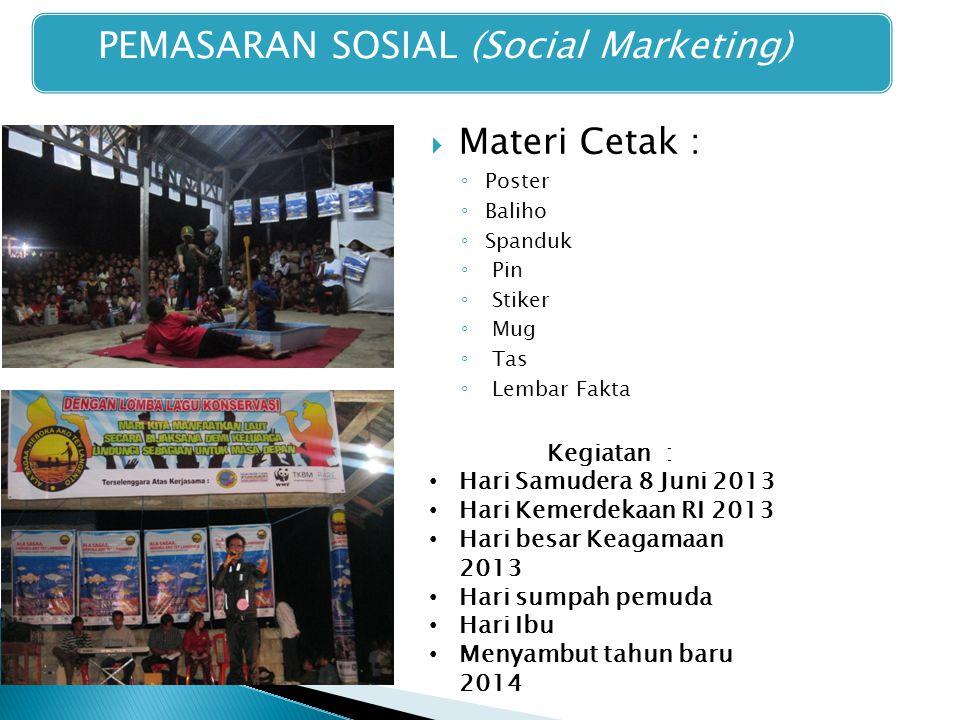PEMASARAN SOSIAL (Social Marketing)
