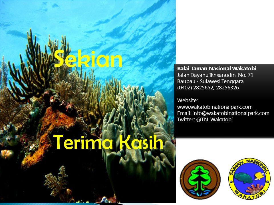 Sekian Terima Kasih Balai Taman Nasional Wakatobi