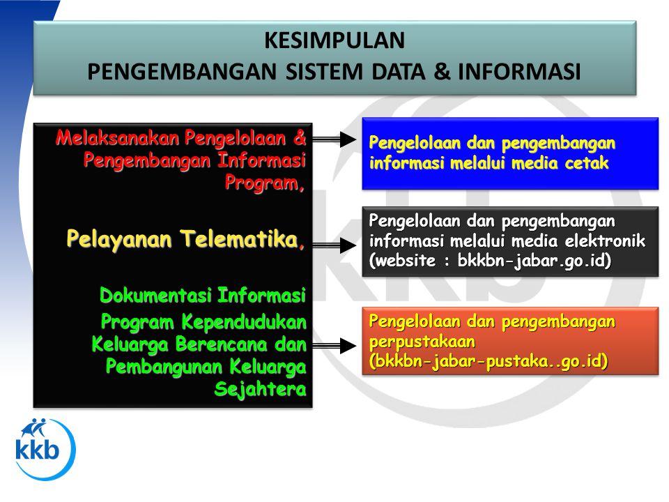 PENGEMBANGAN SISTEM DATA & INFORMASI