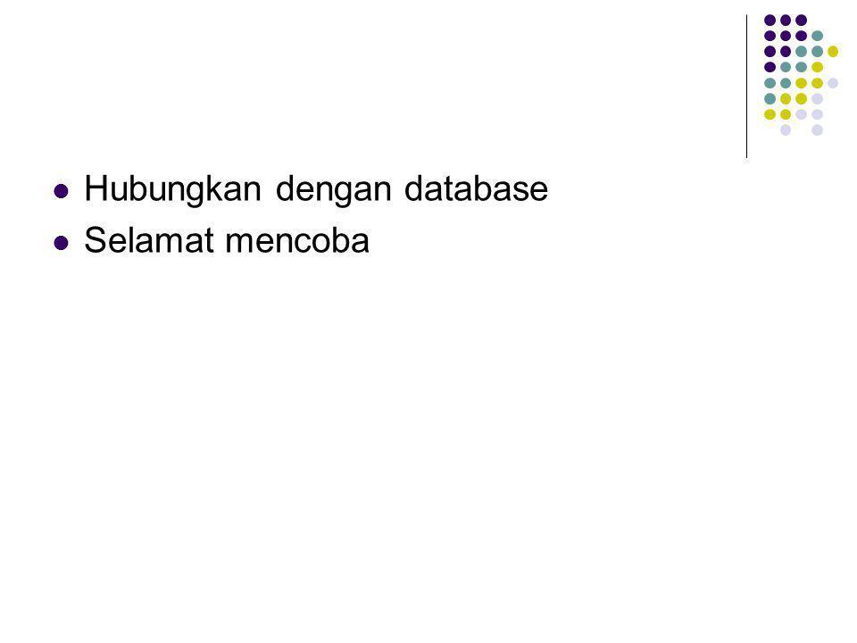 Hubungkan dengan database