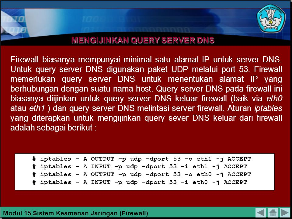 MENGIJINKAN QUERY SERVER DNS