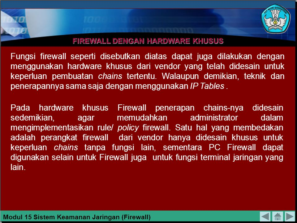 FIREWALL DENGAN HARDWARE KHUSUS