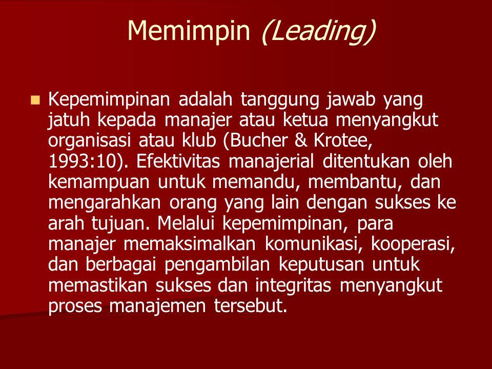 Memimpin (Leading)
